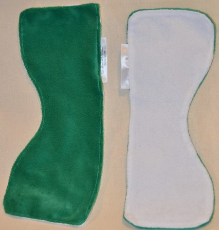 Small Burp Cloth made from Laminated Minky & 100% Cotton Terry Cloth