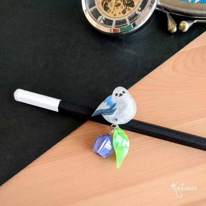 Korean Crow Bird Badge - Illustrated Kawaii Lapel Pin