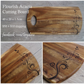 Wood Burnt Flourish Acacia Cutting Board
