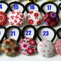 3 pack: choose the ones you want and save.  28mm fabric covered button