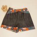 Little hipster shorts with a foxy twist. Size 1
