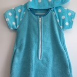 Size 3 Girls Short Sleeve Beach Towel Dress/Pool Cover up