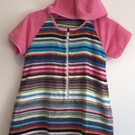 Size 4 Girls Short Sleeve Beach Towel Dress/Pool Cover up