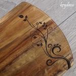 Wood Burnt Flourish Acacia Cutting Board
