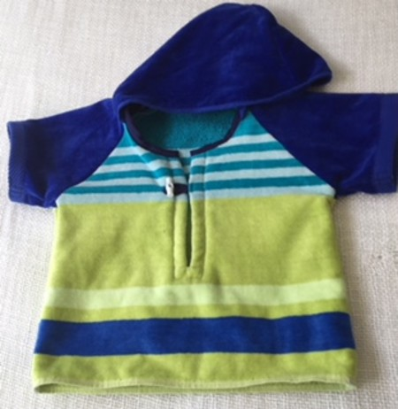 Size 2 Boys Beach Towel Shirt/Pool Cover up