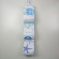 Toilet Roll Holder, Paper Holder / Storage for Bathroom, Caravan - Fabric Ocean