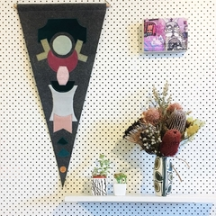 Felt pennant 1- Modern wall hanging