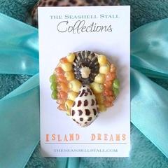 "Seashell Fridge Magnet - ""Island Dreams"" Collection"