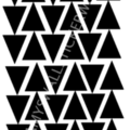 Wall Sticker falling Arrow Triangles Wall Decal