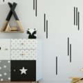 Wall Sticker Stripy Strips Wall Decal Set