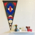 Felt pennant 2- Modern wall hanging