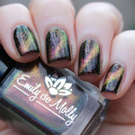 "Nail polish - ""Tropical Magic"" A pink / gold / green magnetic micro flake topper"