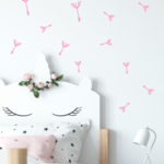 Wall Sticker Dandelion Flower Wall Decal Set
