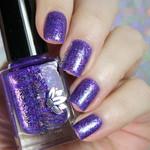 "Nail polish - ""Sweet Sacrifice"" Purple base with iridescent flakes"