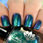 "Nail polish - ""Shallow Depths"" green / blue / purple  multichrome polish"