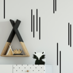 Wall Sticker Stripy Strips Wall Decal Set