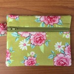 Green Floral Coin Purse