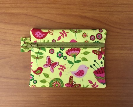 Yellow Floral Coin Purse