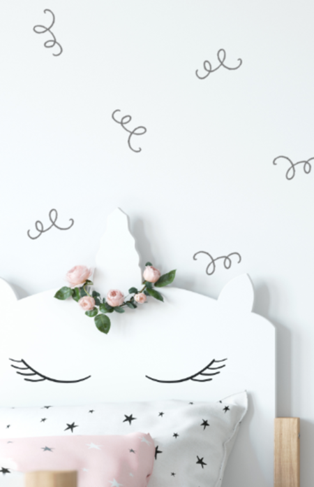 Wall Sticker Sqiggle Wall Decal Set