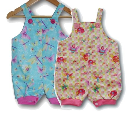 BABY GIRLS Cotton Overalls