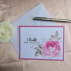 Birthday Card, Hand stamped, Custom message