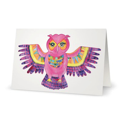 Boho Owl Greeting Card