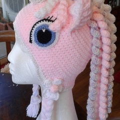 Crochet Unicorn/Pony Crochet Hats - Stunning gift for little (& big) Girls