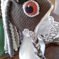 Children's Hats - Pony/Unicorn Funky Hats - Hand Crochet Individually Designed