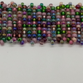 Shades of purple and green Beaded Bracelet Pink Blue Summer Trendy