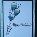Birthday Card, Hand stamped, Embossed