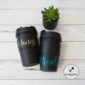 Teacher Gift Reuseable Insulated Coffee cup & #1 Teacher Keyring Bagtag Xmas