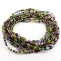 Multi Wrap Bead Bracelet Necklace Boho Summer  Green Purple