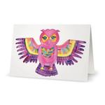 Boho Owl Greeting Card