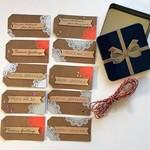Christmas Gift Tags kraft set of 10
