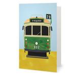 Melbourne Tram Greeting Card