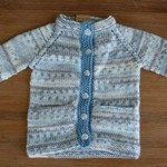 """Baby Boy Blue"" Button-up Jumper/Cardigan size preemie-3 months"