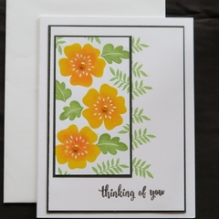 Thinking of You Card,  Sympathy Card, Hand stamped