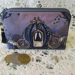 Coin Purse - Jewellery Pouch - Dark Princess, Blk Tassel & Believe Charm