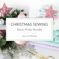 Christmas Stock Photo Bundle, Sewing Photos