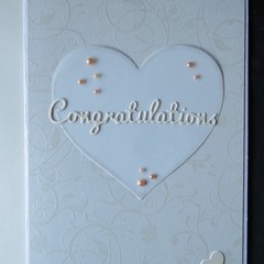 Congratulations Card,   Hand stamped and embossed