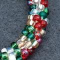 Christmas Beaded Bracelet Santa Christmas gift festive xmas father Christmas