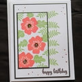 Happy Birthday Card,   Hand stamped