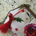 Christmas Party Clutch - Xmas Floral with Jingle Bells