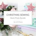 Christmas Stock Photo Bundle, Sewing Photos