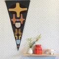 Felt pennant 3- Modern wall hanging