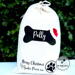 Puppy's Personalised Christmas Treat Bag From Santa Paws