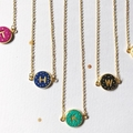 Dots Initial Necklace, Personalised Necklace, Polymer Necklace