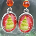 Christmas Tree Beaded Earrings Santa gift festive xmas star
