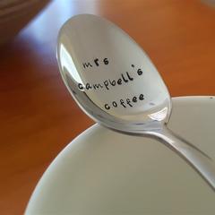 Custom Spoon, 50th Birthday Gift,40th,21st,Teacher Gift,Teaspoon,Hand Stamped,