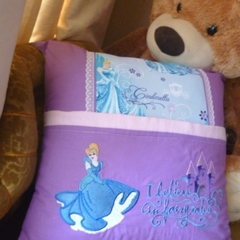 """""""I Believe in Fairytales"""" Reading/Pocket Cushion  (cover only)"""